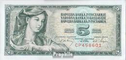 Jugoslawien Pick-Nr: 81a, Signatur 7 Bankfrisch 1968 5 Dinara - Jugoslawien