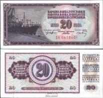Jugoslawien Pick-Nr: 85 Bankfrisch 1974 20 Dinara - Jugoslawien