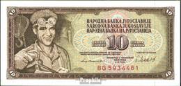 Jugoslawien Pick-Nr: 87b Bankfrisch 1981 10 Dinara - Jugoslawien