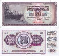 Jugoslawien Pick-Nr: 88a Bankfrisch 1978 20 Dinara - Jugoslawien