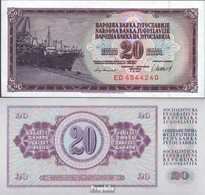 Jugoslawien Pick-Nr: 88b Bankfrisch 1981 20 Dinara - Jugoslawien