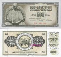 Jugoslawien Pick-Nr: 91c Bankfrisch 1986 500 Dinara - Jugoslawien