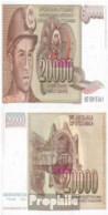 Jugoslawien Pick-Nr: 95 Bankfrisch 1987 20.000 Dinara - Jugoslawien