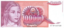 Jugoslawien Pick-Nr: 97 Gebraucht (III) 1989 100.000 Dinara - Jugoslavia