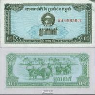 Kambodscha Pick-Nr: 25a Bankfrisch 1979 1 Kak - Kambodscha