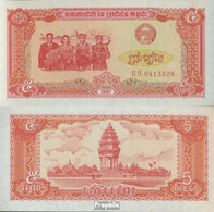 Kambodscha Pick-Nr: 33 Bankfrisch 1987 5 Riels - Kambodscha