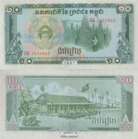 Kambodscha Pick-Nr: 34 Bankfrisch 1987 10 Riels - Cambodia