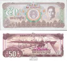 Kambodscha Pick-Nr: 35a Bankfrisch 1992 50 Riels - Kambodscha