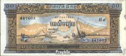 Kambodscha Pick-Nr: 7d Bankfrisch 1972 50 Riels - Kambodscha