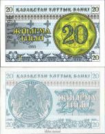 Kasachstan Pick-Nr: 5b Bankfrisch 1993 20 Tyin - Kasachstan