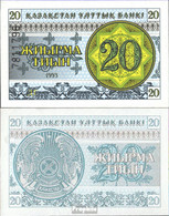 Kasachstan Pick-Nr: 5b Bankfrisch 1993 20 Tyin - Kazakhstan