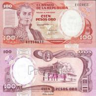 Kolumbien Pick-Nr: 426e (1990) Bankfrisch 1990 100 Pesos Oro - Kolumbien