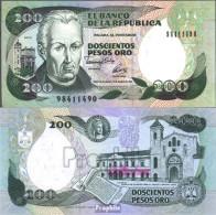 Kolumbien Pick-Nr: 429A Bankfrisch 1992 200 Pesos Oro - Kolumbien