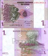 Kongo (Kinshasa) Pick-Nr: 80a Bankfrisch 1997 1 Centime - Kongo