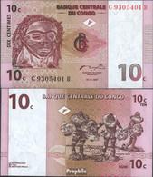 Kongo (Kinshasa) Pick-Nr: 82a Bankfrisch 1997 10 Centimes - Congo
