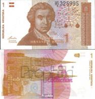 Kroatien Pick-Nr: 16a Bankfrisch 1991 1 Dinar - Kroatien