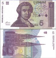 Kroatien Pick-Nr: 17a Bankfrisch 1991 5 Dinar - Kroatien