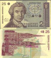 Kroatien Pick-Nr: 19a Bankfrisch 1991 25 Dinar - Kroatien