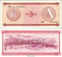 Kuba Pick-Nr: FX2 Bankfrisch 1985 3 Pesos - Cuba