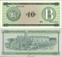 Kuba Pick-Nr: FX8 Bankfrisch 1985 10 Pesos - Kuba