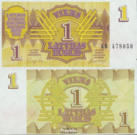 Lettland 35 Bankfrisch 1992 1 Rublis - Latvia