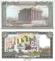 Libanon Pick-Nr: 65c (1985) Bankfrisch 1985 50 Livres - Libanon