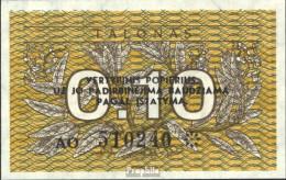 Litauen Pick-Nr: 29b Bankfrisch 1991 0,10 Talonas - Litauen