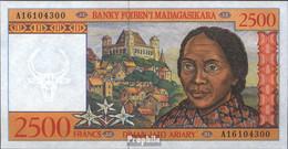 Madagaskar Pick-Nr: 81 Bankfrisch 1998 2.500 Francs - Madagaskar