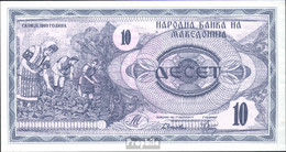 Makedonien Pick-Nr: 1a Bankfrisch 1992 10 Denar - Macedonia