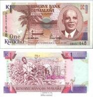 Malawi 23b Bankfrisch 1992 1 Kwacha - Malawi
