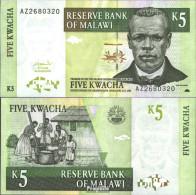Malawi Pick-Nr: 36b Bankfrisch 2004 5 Kwacha - Malawi