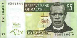 Malawi Pick-Nr: 36c Bankfrisch 2005 5 Kwacha - Malawi