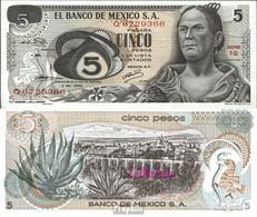 Mexiko Pick-Nr: 62a Bankfrisch 1969 5 Pesos - Mexiko