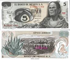 Mexiko Pick-Nr: 62c Bankfrisch 1972 5 Pesos - Mexiko