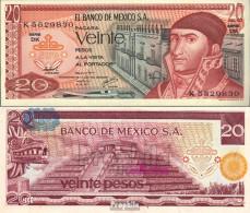 Mexiko Pick-Nr: 64d Bankfrisch 1977 20 Pesos - Mexico