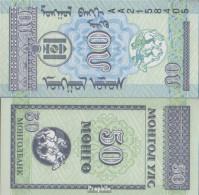 Mongolei Pick-Nr: 51 Bankfrisch 1993 50 Mongo - Mongolei