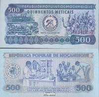 Mosambik Pick-Nr: 127 Bankfrisch 1980 500 Meticais - Mozambique