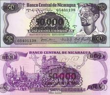 Nicaragua Pick-Nr: 148 Bankfrisch 1987 50.000 Córdobas On 50 Córdobas - Nicaragua
