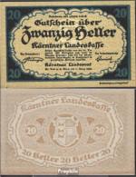 Österreich Kat-Nr.: 64Kärnten (S107) Kärntner Landeskasse Bankfrisch 1920 20 Heller - Oesterreich