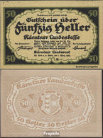 Österreich Kat-Nr.: 65Kärnten (S108) Kärntner Landeskasse Bankfrisch 1920 50 Heller - Oesterreich