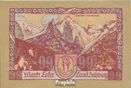 Lofer Notgeld Der Gemeinde Lofer Bankfrisch 1921 99 Heller - Oesterreich