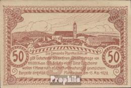 Pfarrkirchen Notgeld Der Gemeinde Pfarrkirchen Bankfrisch 1920 50 Heller Braun - Oesterreich