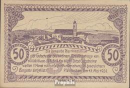 Pfarrkirchen Notgeld Der Gemeinde Pfarrkirchen Bankfrisch 1920 50 Heller Lila - Oesterreich