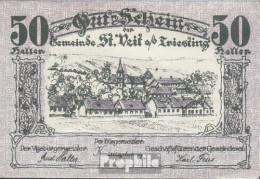 St. Veit Notgeld Der Gemeinde St. Veit Bankfrisch 1920 50 Heller - Oesterreich