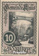 Klaus Notgeld Der Stadt Klaus Bankfrisch 1920 10 Heller - Oesterreich