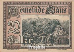 Klaus Notgeld Der Stadt Klaus Bankfrisch 1920 20 Heller - Oesterreich