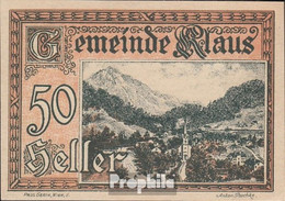 Klaus Notgeld Der Stadt Klaus Bankfrisch 1920 50 Heller - Oesterreich