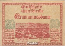 Krummnussbaum Notgeld Der Stadt Krummnussbaum Bankfrisch 1920 20 Heller - Oesterreich