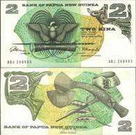 Papua-Neuguinea Pick-Nr: 1a Bankfrisch 1975 2 Kina Vogel - Papouasie-Nouvelle-Guinée