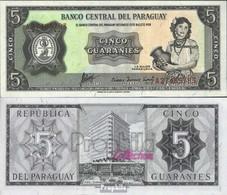 Paraguay Pick-Nr: 195b Bankfrisch 1952 5 Guaranies - Paraguay